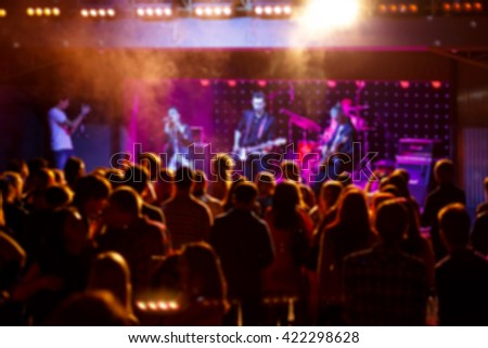 Background image with blurs and lights. Party concept #422298628