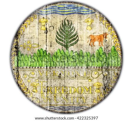 Vermont seal concrete flag #422325397