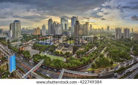 Jakarta officially the Special Capital Region of Jakarta, is the capital of Indonesia. Jakarta is the center of economics, culture and politics of Indonesia #422749384