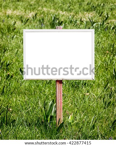 blank sign with space for text - photo