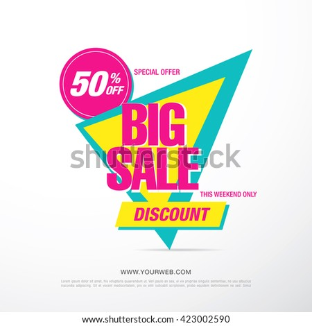 bright vector sale banner #423002590