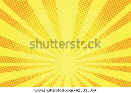 retro comic yellow background raster gradient halftone pop art retro style