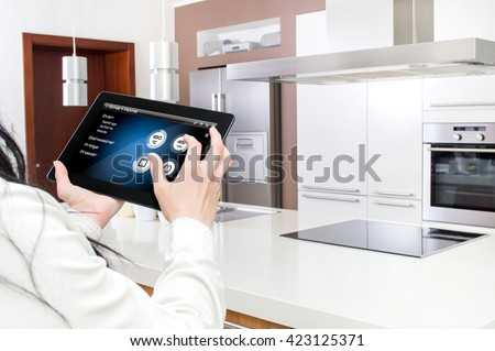 Conception of smart kitchen controlled by tablet application #423125371