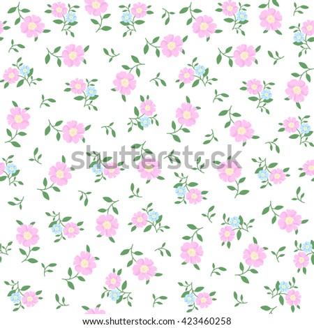 Seamless pattern in small flower. Romantic flower print. Ditsy floral. Floral seamless pattern. Vector Illustration #423460258