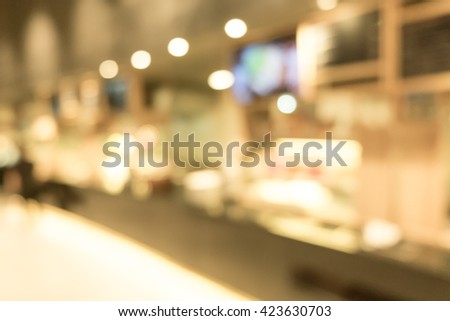 Restaurant and Coffee shop blurred background with bokeh #423630703