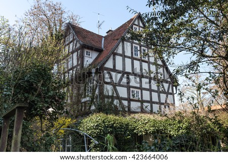 historic town butzbach germany #423664006