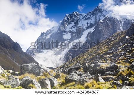 Salkantay trail #424384867