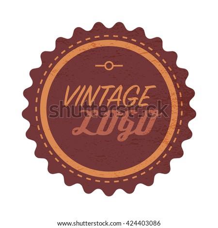 Vintage logo label #424403086