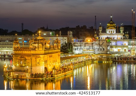 Golden Temple (Harmandir Sahib) in Amritsar, Punjab, India Royalty-Free Stock Photo #424513177