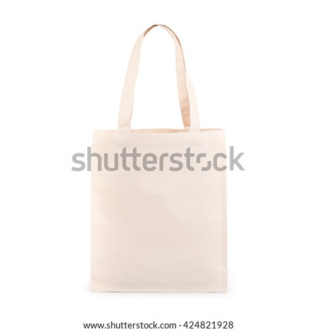 White cotton bag isolated on white background #424821928