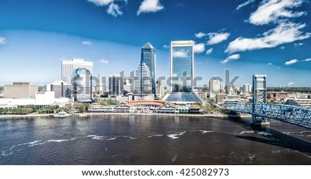 Jacksonville aerial view.