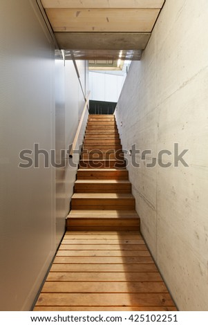 Architecture modern design, underground passage of a building #425102251