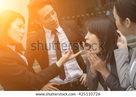 business bully concept with man and woman in the city #425110726