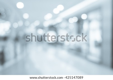 Abstract background blur of shopping mall #425147089