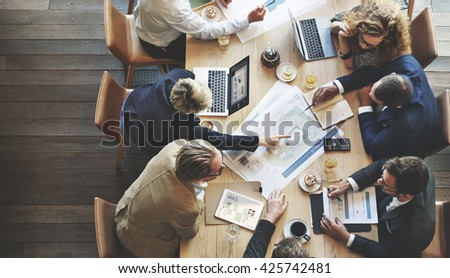 Business People Meeting Conference Discussion Corporate Concept #425742481