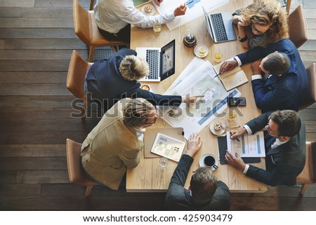 Business People Meeting Conference Discussion Corporate Concept #425903479