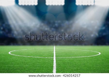 soccer field Royalty-Free Stock Photo #426014257