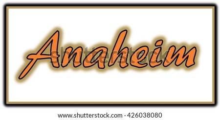 Anaheim Word Clip Art
