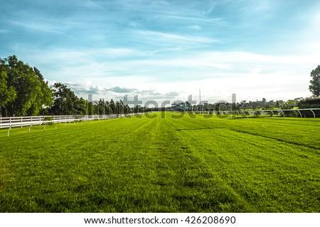 Horse racecourse field in Melbourne
