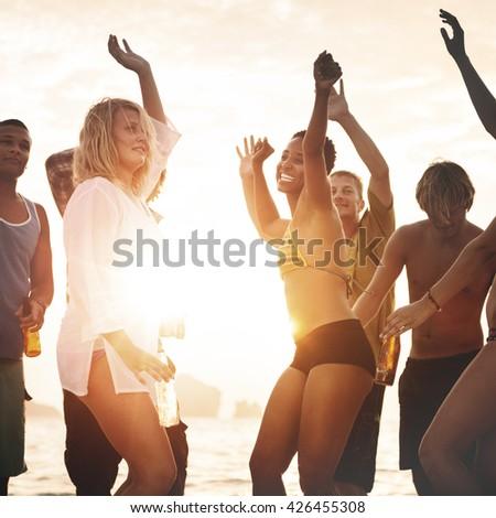 Celebration Beach Community Party Summer Concept #426455308