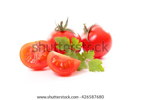 red tomato isolated on white #426587680