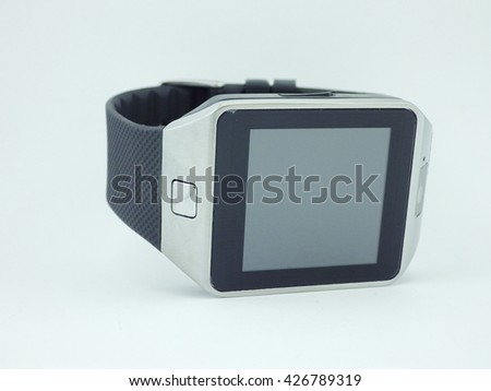 Smart watch with white background #426789319