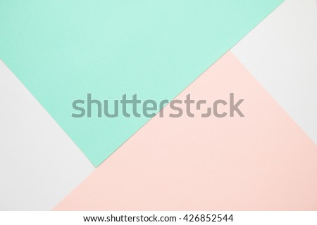 Colorful of soft pink and green paper background.