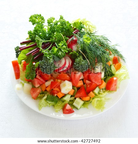 fresh salad #42727492