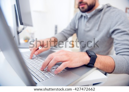 Man playing videogames and holding joystick #427472662