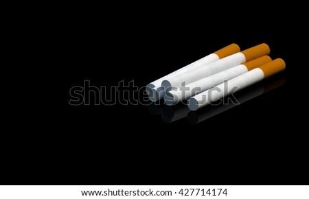 Cigarette on Black background 3D Render #427714174
