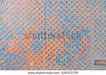 Aluminium dark list with rhombus shapes #428103709