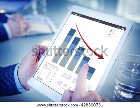 Office Worker Internet Connection Tablet Concept #428300731