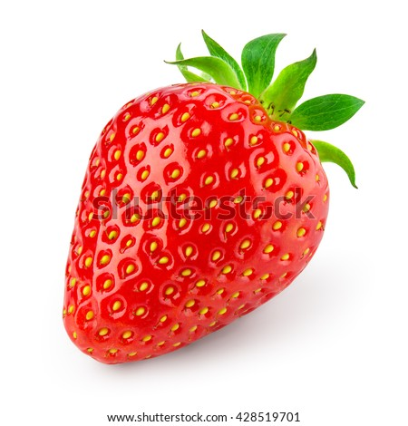 Strawberry isolated on white background. With clipping path. #428519701