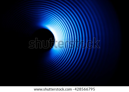 Sound waves in the dark Royalty-Free Stock Photo #428566795