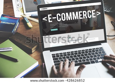 E-Commerce Digital Email Internet Technology Concept #428626852