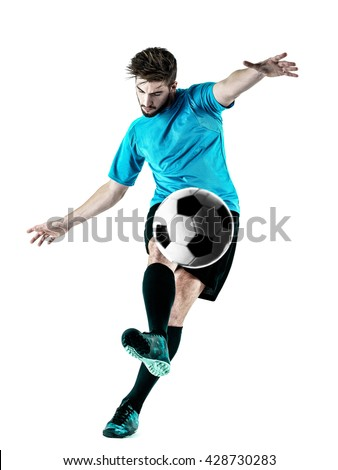 Soccer player Man Isolated #428730283