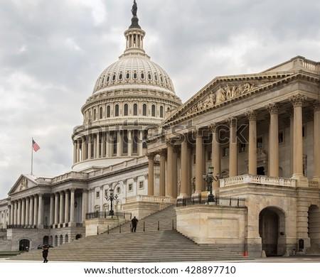 Capitol building eastern facade,staircase,Washington DC #428897710