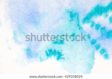 Abstract blue watercolor background #429358024