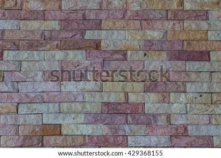 Background of old vintage brick wall #429368155