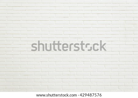 Old white brick wall background texture close up #429487576