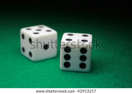 A close up shot of a pair of dice #42953257