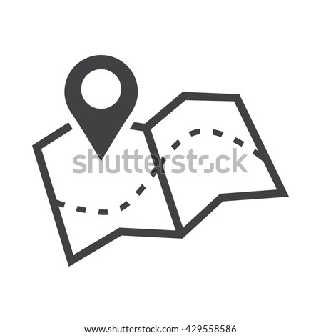 Map icon Royalty-Free Stock Photo #429558586