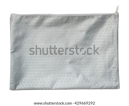 Gray pocket purse bag on white background #429669292