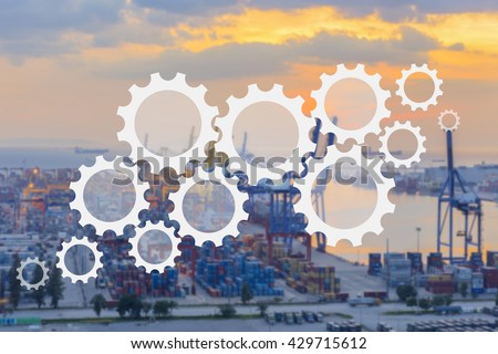 supply chain management logistics #429715612