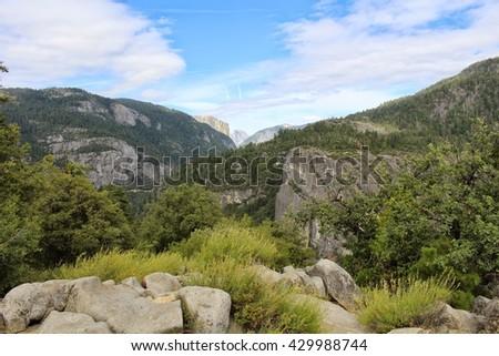 A view on Half Dome, Yosemite #429988744