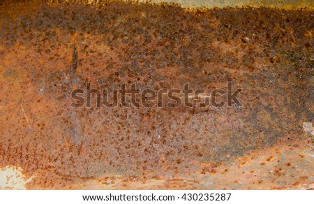 Background texture of Old Rusted steel. #430235287