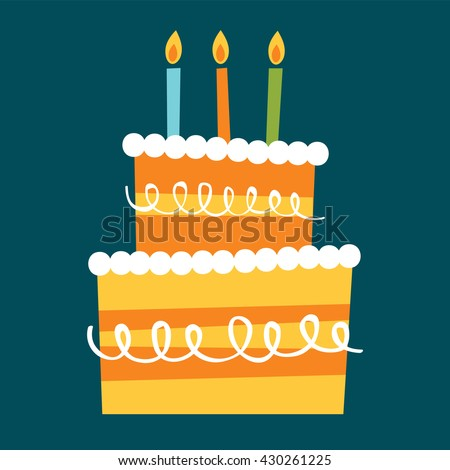 playful birthday cake with candle