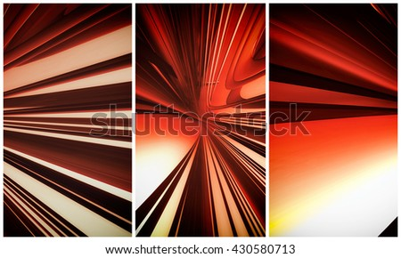 3D rendering, futuristic background for banner #430580713