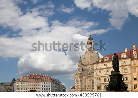 The Dresden Frauenkirche ( literally Church of Our Lady) is a Lutheran church in Dresden, Germany  #430595761