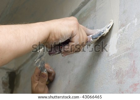 plasterer putty joints with surfacer #43066465